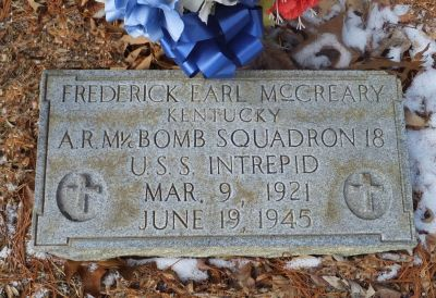 Freddy McCreary's Grave, Warfield Kentucky